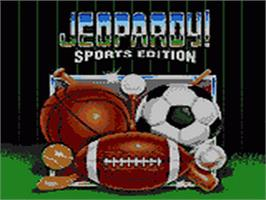 Title screen of Jeopardy! Sports Edition on the Sega Game Gear.