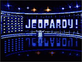Title screen of Jeopardy on the Sega Game Gear.