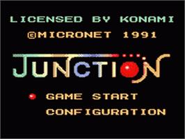 Title screen of Junction on the Sega Game Gear.