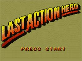 Title screen of Last Action Hero on the Sega Game Gear.