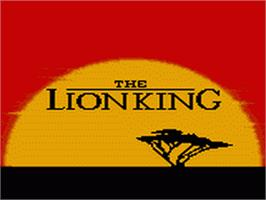 Title screen of Lion King on the Sega Game Gear.