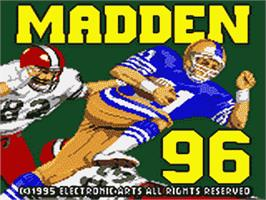 Title screen of Madden NFL '96 on the Sega Game Gear.