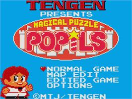 Title screen of Magical Puzzle Popils on the Sega Game Gear.