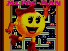 Title screen of Ms. Pac-Man on the Sega Game Gear.