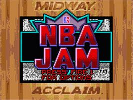 Title screen of NBA Jam on the Sega Game Gear.
