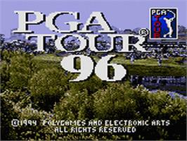Title screen of PGA Tour Golf '96 on the Sega Game Gear.