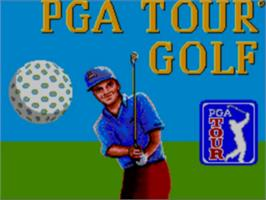 Title screen of PGA Tour Golf on the Sega Game Gear.
