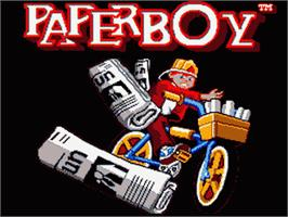 Title screen of Paperboy on the Sega Game Gear.