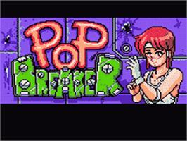 Title screen of Pop Breaker on the Sega Game Gear.
