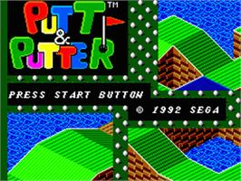 Title screen of Putt & Putter on the Sega Game Gear.
