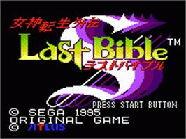 Title screen of Revelations: The Demon Slayer on the Sega Game Gear.