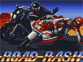 Title screen of Road Rash on the Sega Game Gear.