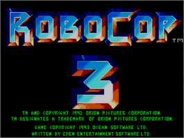 Title screen of Robocop 3 on the Sega Game Gear.
