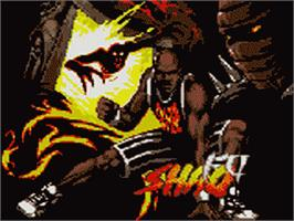 Title screen of Shaq Fu on the Sega Game Gear.