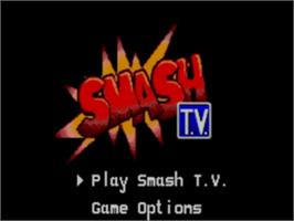 Title screen of Smash T.V. on the Sega Game Gear.