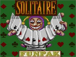 Title screen of Solitaire FunPak on the Sega Game Gear.