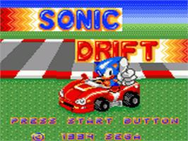 Title screen of Sonic Drift on the Sega Game Gear.