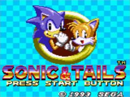 Title screen of Sonic the Hedgehog Chaos on the Sega Game Gear.