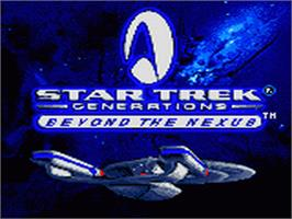 Title screen of Star Trek Generations - Beyond the Nexus on the Sega Game Gear.