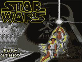Title screen of Star Wars on the Sega Game Gear.