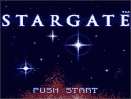 Title screen of Stargate on the Sega Game Gear.