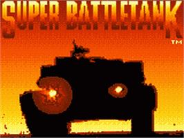 Title screen of Super Battletank: War in the Gulf on the Sega Game Gear.
