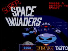 Title screen of Super Space Invaders on the Sega Game Gear.