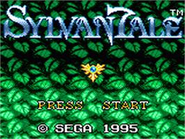 Title screen of Sylvan Tale on the Sega Game Gear.