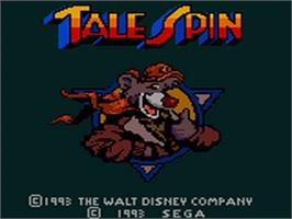 Title screen of TaleSpin on the Sega Game Gear.