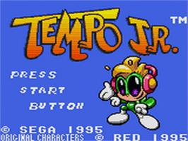 Title screen of Tempo Jr. on the Sega Game Gear.