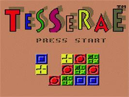 Title screen of Tesserae on the Sega Game Gear.
