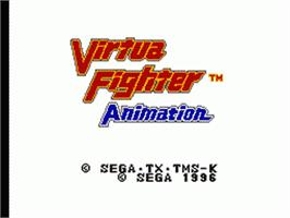 Title screen of Virtua Fighter Animation on the Sega Game Gear.