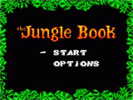 Title screen of Walt Disney's The Jungle Book on the Sega Game Gear.