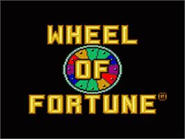 Title screen of Wheel Of Fortune: Featuring Vanna White on the Sega Game Gear.