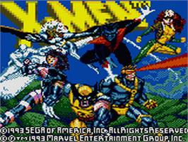 Title screen of X-Men: Mojo World on the Sega Game Gear.