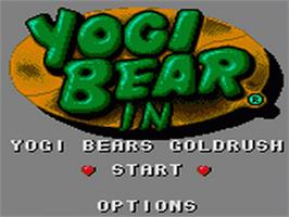 Title screen of Yogi Bear in Yogi Bear's Goldrush on the Sega Game Gear.