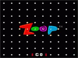 Title screen of Zoop on the Sega Game Gear.