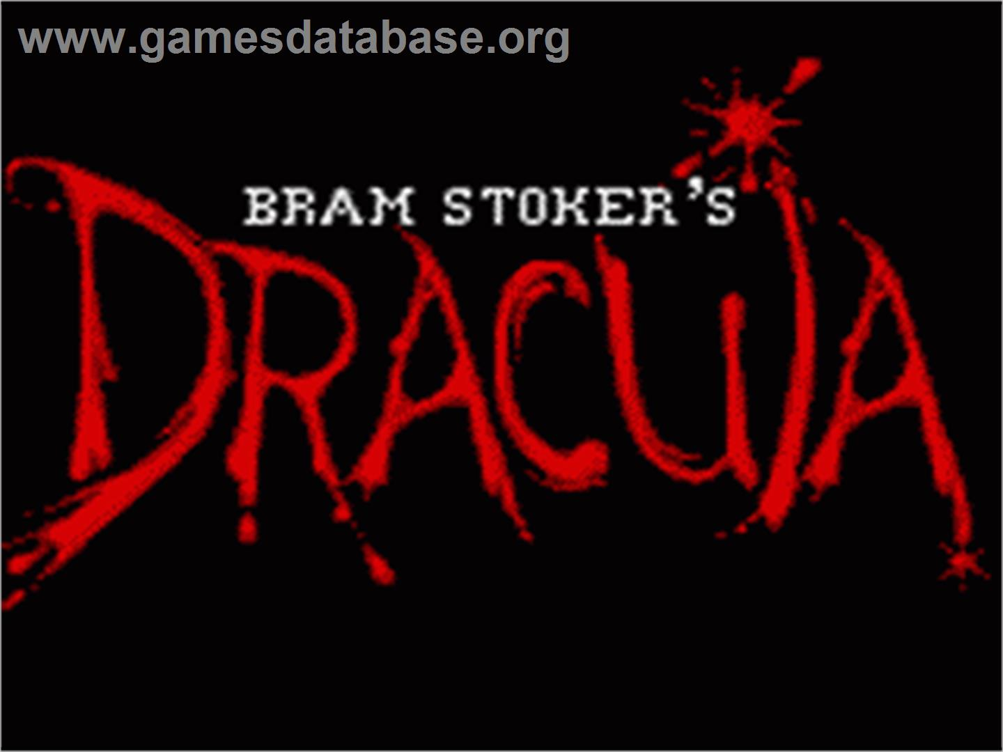 Title screen of Bram Stoker's Dracula on the Sega Game Gear.