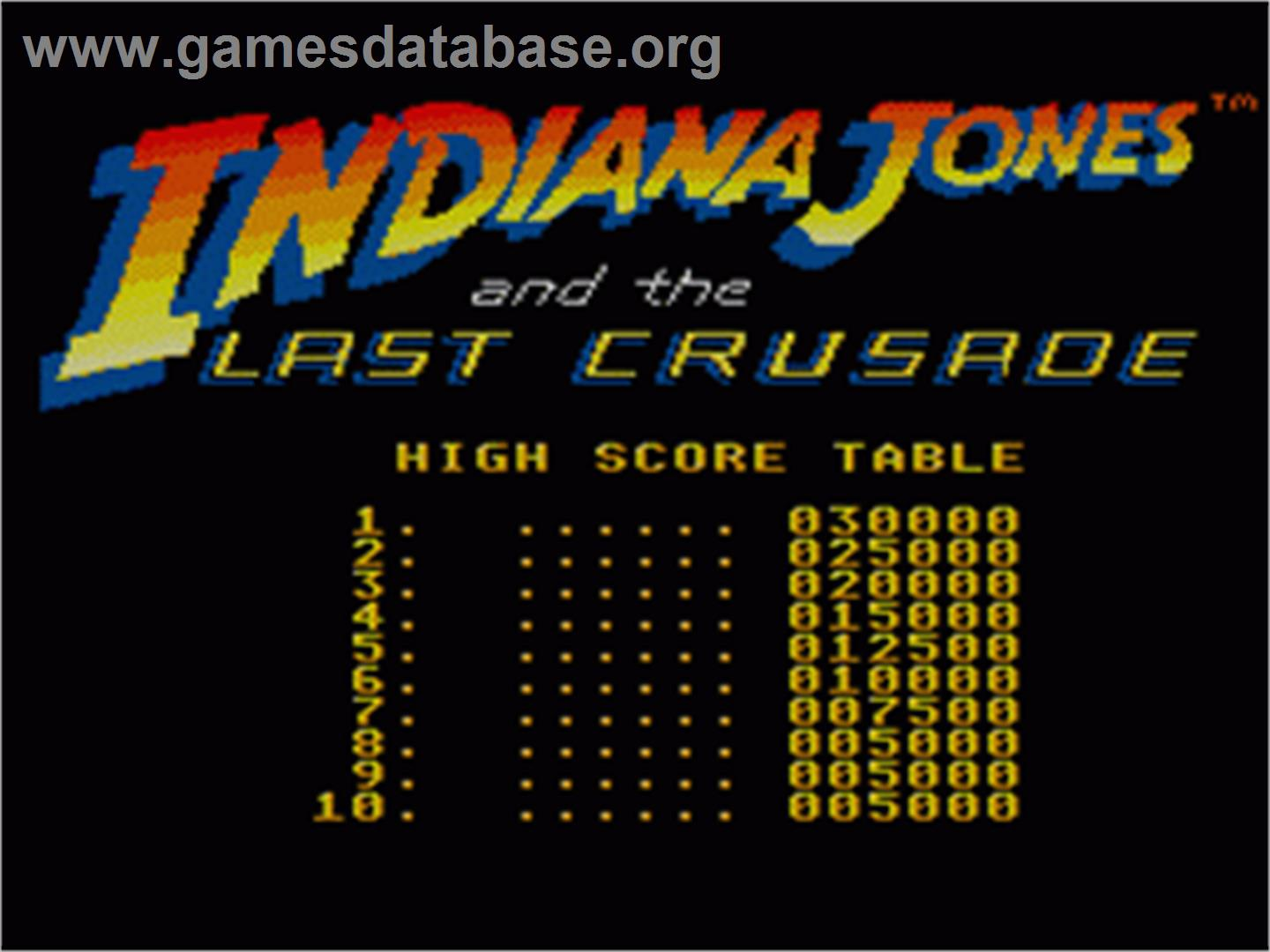 Indiana Jones and the Last Crusade: The Action Game on the Sega Game