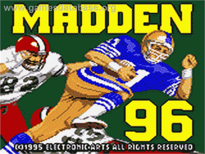 screen of madden nfl 96 on the sega game gear game image madden nfl