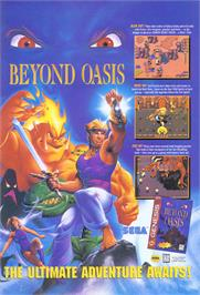 Advert for Beyond Oasis on the Sega Genesis.