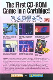 Advert for Flashback on the Sega Genesis.