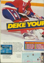 Advert for NHL '94 on the Sega CD.