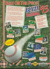 Advert for R.B.I. Baseball '93 on the Sega Genesis.
