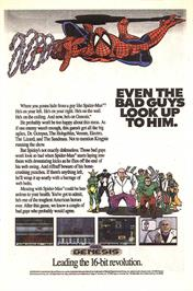 Advert for Spider-Man: The Animated Series on the Sega Genesis.