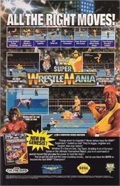Advert for WWF Super Wrestlemania on the Sega Genesis.