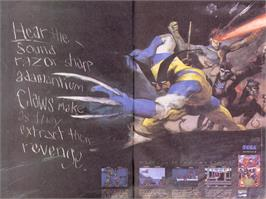Advert for X-Men on the Sega Genesis.