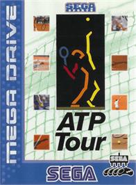 Box cover for ATP Tour Championship Tennis on the Sega Genesis.