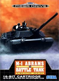 Box cover for Abrams Battle Tank on the Sega Genesis.