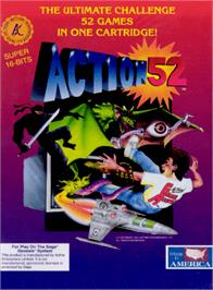Box cover for Action 52 on the Sega Genesis.
